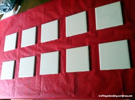 scrapbook paper coasters 1