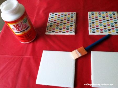 scrapbook paper coasters 2