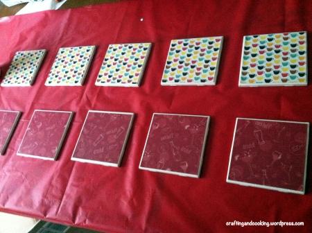 scrapbook paper coasters 3