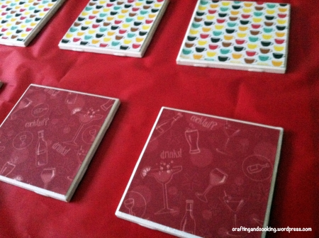 scrapbook paper coasters 4