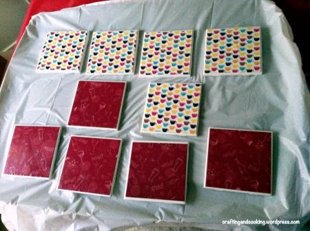 scrapbook paper coasters 5