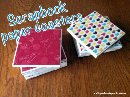 scrapbook paper coasters 6
