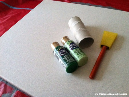 Toilet paper roll canvas art 1