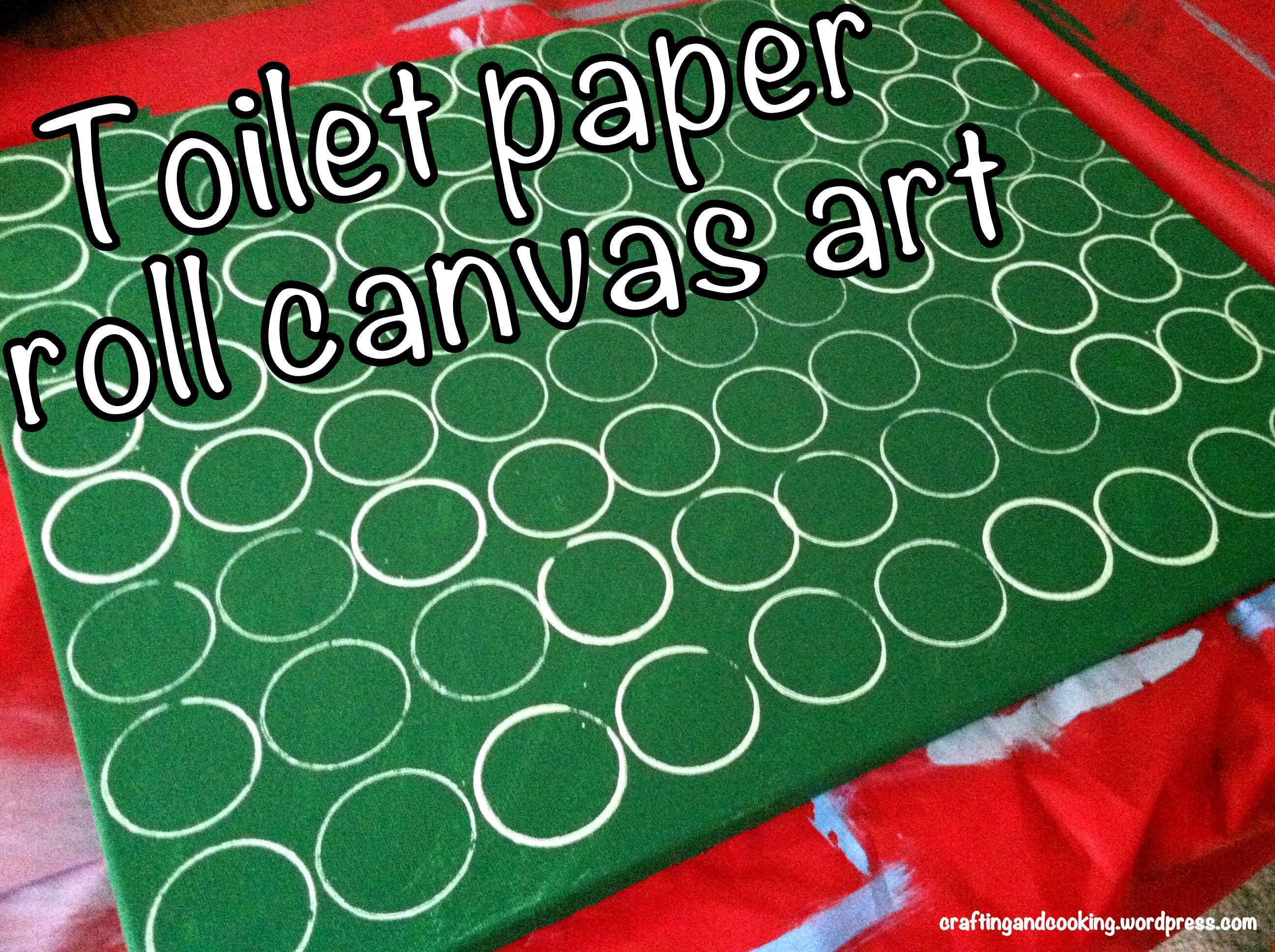 Toilet paper roll canvas art 5 crafting and cooking for Newspaper canvas art