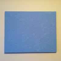 Glue canvas artwork