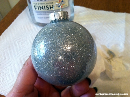 glitter on the inside ornament 11
