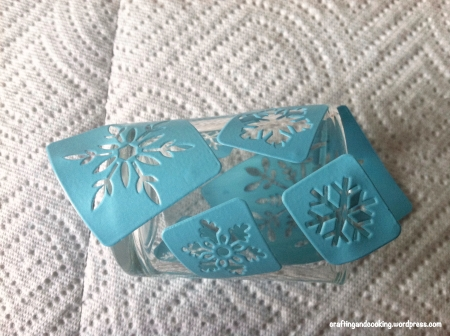 Snowflake tealight holder 3