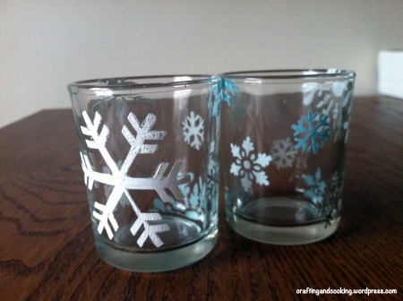 Snowflake tealight holder 5