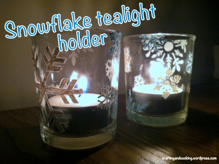 Snowflake tealight holder 6