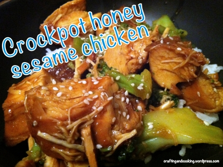 crockpot honey sesame chicken 7