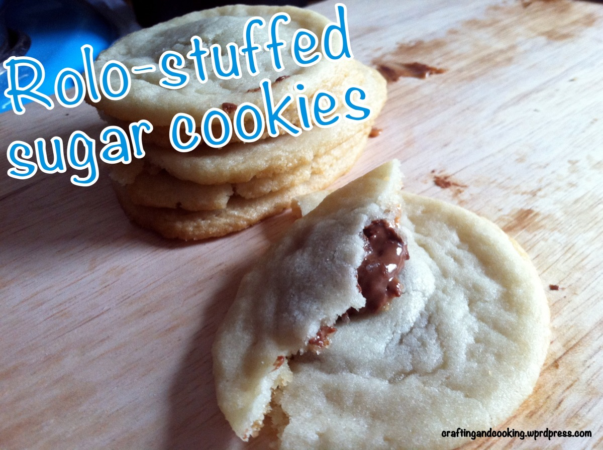 Rolo-stuffed sugar cookies